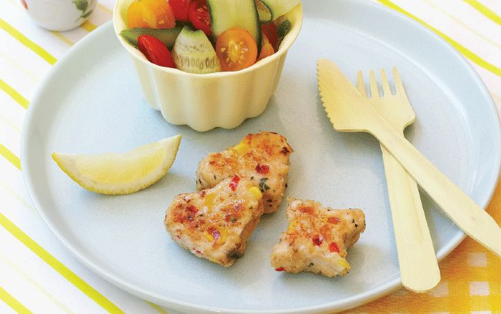 Chicken and sweetcorn nuggets