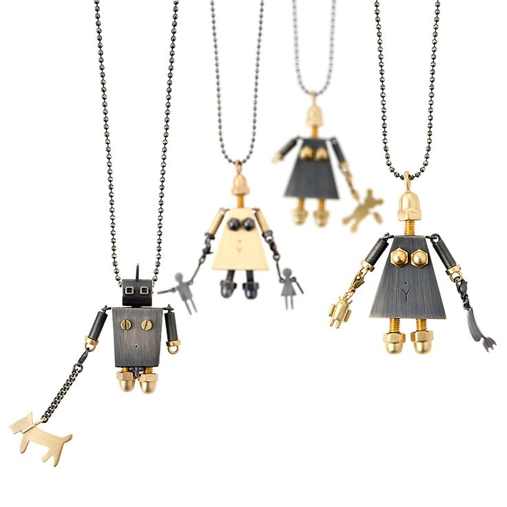 Necklaces from MACHINY collection by Anna Orska.