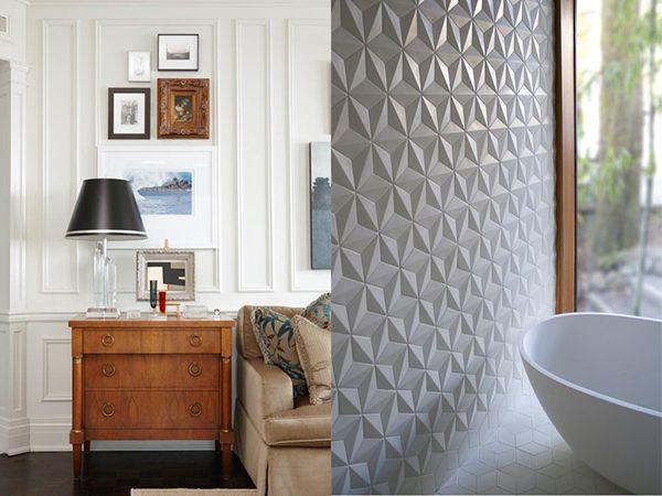Tendencias: paredes texturadas con relieve - Ebom