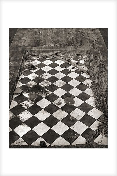 """""""Chessboard Grave"""" is a fine art photograph by Jonathan Bourla.  Taken with a large format view camera similar to the plate cameras of one hundred years ago.  This limited edition photograph is printed on one hundred percent acid-free cotton rag paper with pigment ink.  To see more of Jonathan's photographs, go to www.jonathanbourla.com"""