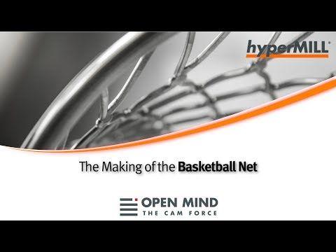 5 Axis Machining: Basketball Net| hyperMILL | GROB | OSG |CAM-Software| - YouTube