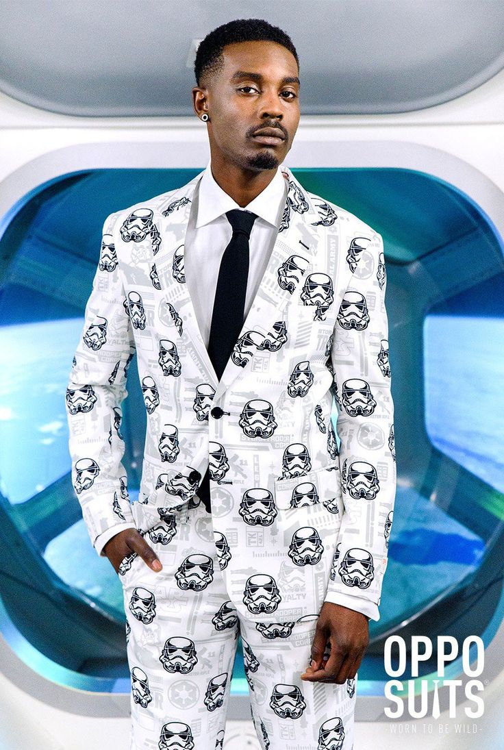 Get ready to dress to impress in this Storm Trooper Suit. Be the only one at your Party with a Star Wars suit! Made of 100% polyester. Sizing is the same as if you were ordering a suit for work. Comes