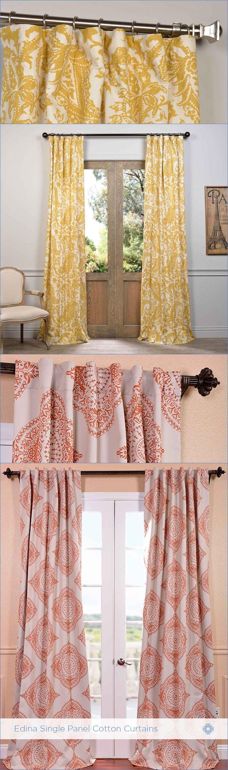 Exclusive fabrics painted chevron printed cotton curtain free - Shop For Exclusive Fabrics Edina Printed Cotton Curtain Panel From The Simplicity Of Modern Geometric