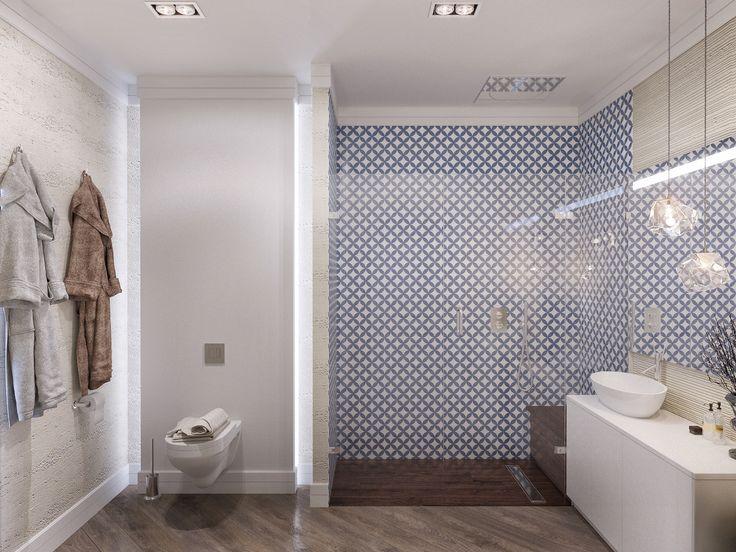 Ванная — это место для отдыха и спокойствия, поэтому и цвета для отделки были выбраны соответствующие: нейтральные, приглушенные, без ярких акцентов.