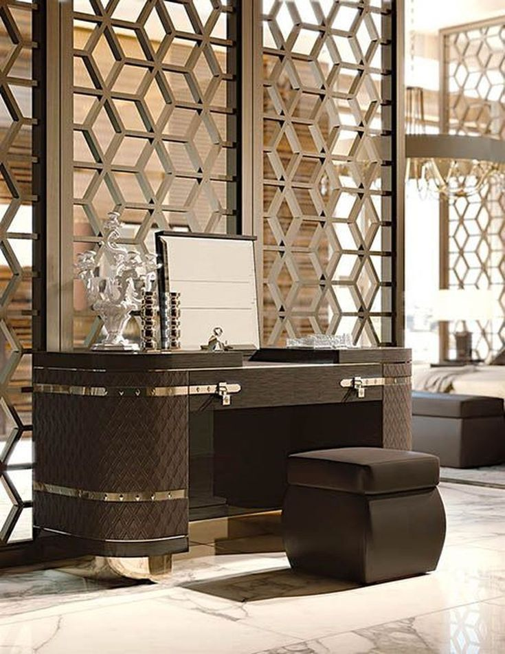 80 Stunning Privacy Screen Design For Modern Home Hoommy Com Luxurious Bedrooms Modern Dressing Table Designs Dressing Table Design