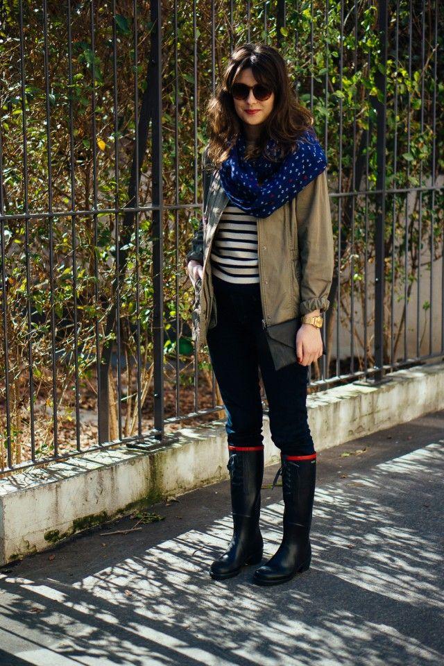 """Mon look """"Classique Chic"""" avec les bottes Aigle Miss Juliette"""