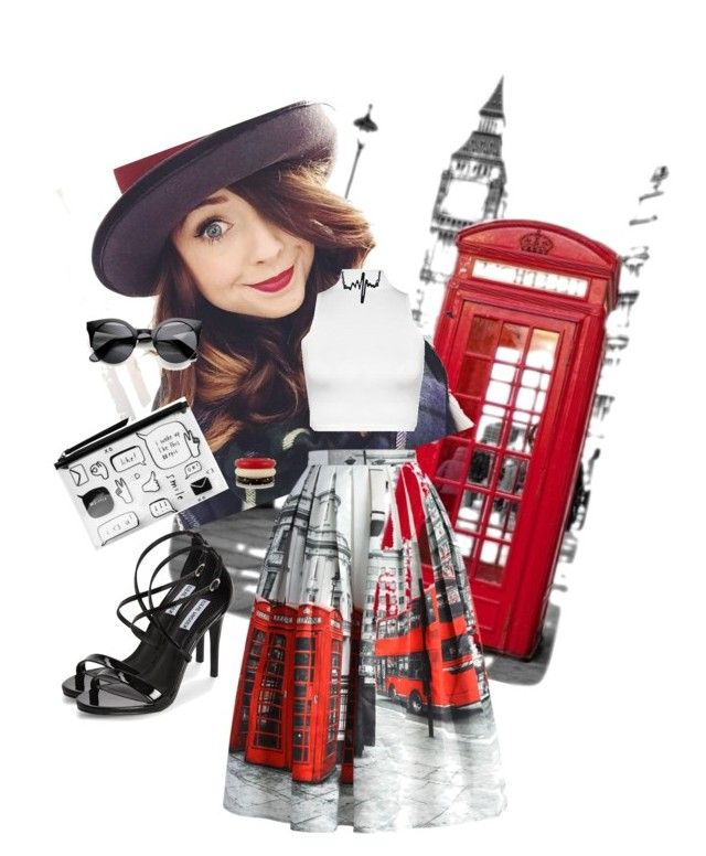 London by sandra-briand on Polyvore featuring polyvore, fashion, style, WearAll, Chicwish, Steve Madden, Monki and Kenneth Jay Lane