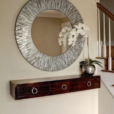 Entry Floating Shelf Design by Rosalinda's Interior's Inc.