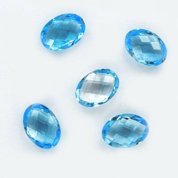 Natural Blue TopazGemstone 1014 mm Oval Shape31 by DevmuktiJewels