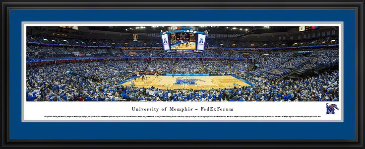 Memphis Tigers Panoramic - FEDEXFORUM Picture