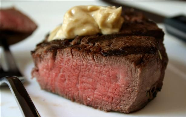 Marinated Filet Mignon With Flavored Butter from Food.com:   Allow time for the meat to marinate at least 2 hrs. or overnight.    Mouth Watering...