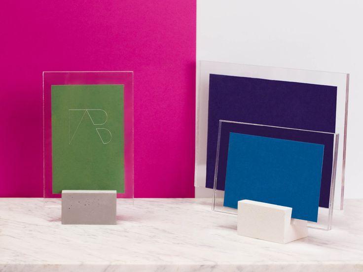 abconcrete design - frame, concrete, middle grey, violet, green, azure, blue, design, minimal, Cubo