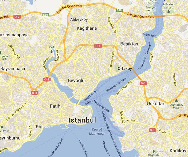 Istanbul Map - For 91 Days