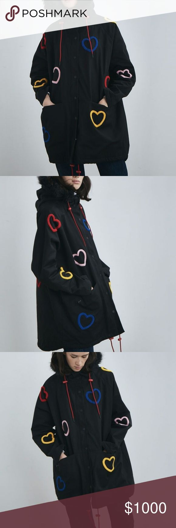 ISO*** Lazy oaf heart parka jacket ISO*** Looking for this item! Please tag me (: thank you in advance !!!! #LazyOaf Lazy Oaf Jackets & Coats