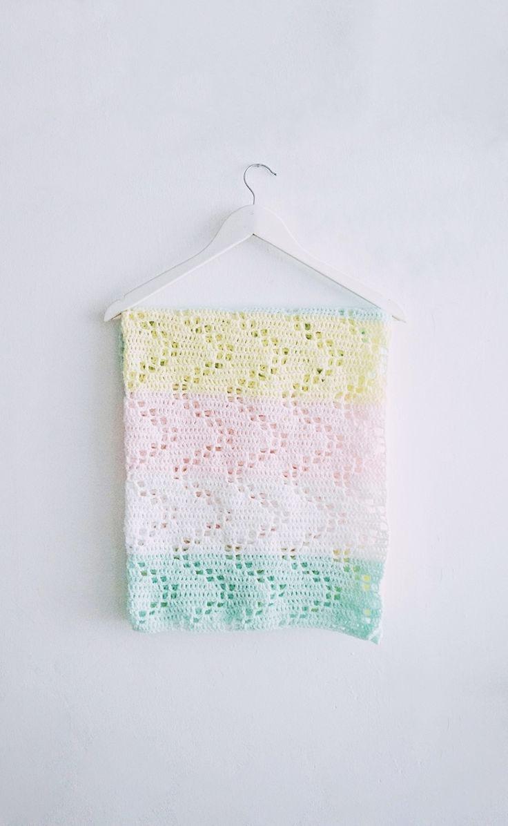 Crochet Hopscotch Baby Blanket, Free Pattern