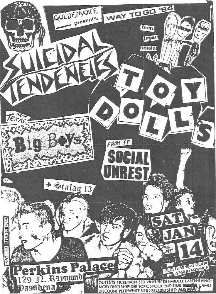 Punk Rock Flyers Collage