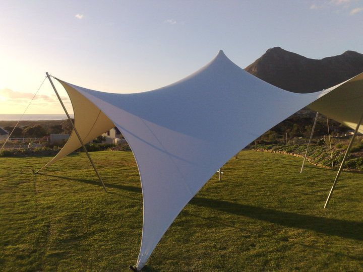 FlexTent 42 - Rigged in the Garden/ a (Rugby) Field.