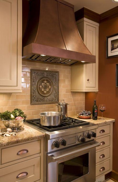 tile medallion at stove backsplash, subway tiles - 25+ Best Stove Backsplash Ideas On Pinterest White Kitchen