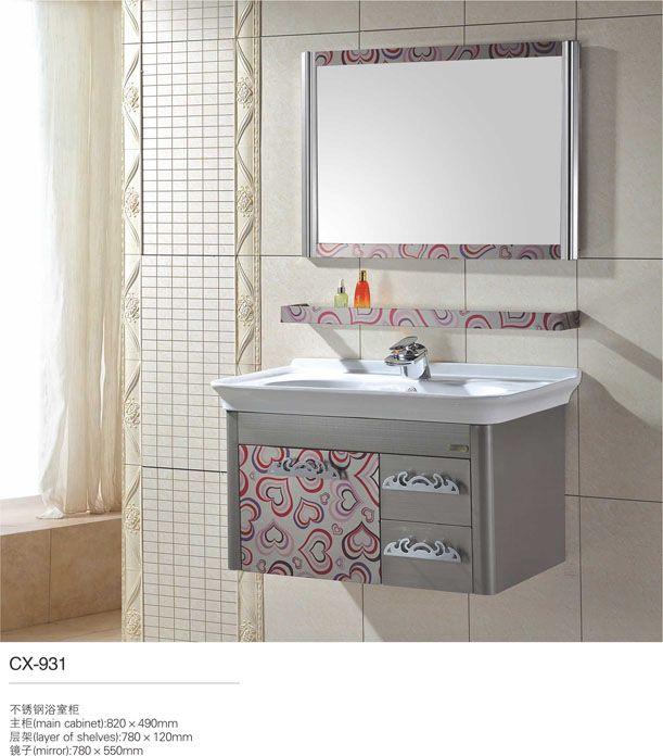 Photos On stainless steel bathroom vanity home decorators