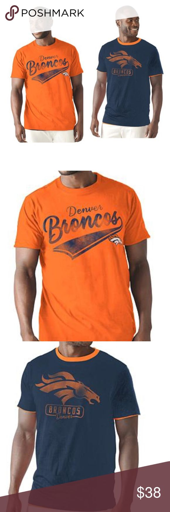 Denver Broncos reversible t shirt NIB MENS size M GIII NFL Reversible Back Up t shirt. Upon request I will take out of bag for pics. NFL Shirts Tees - Short Sleeve