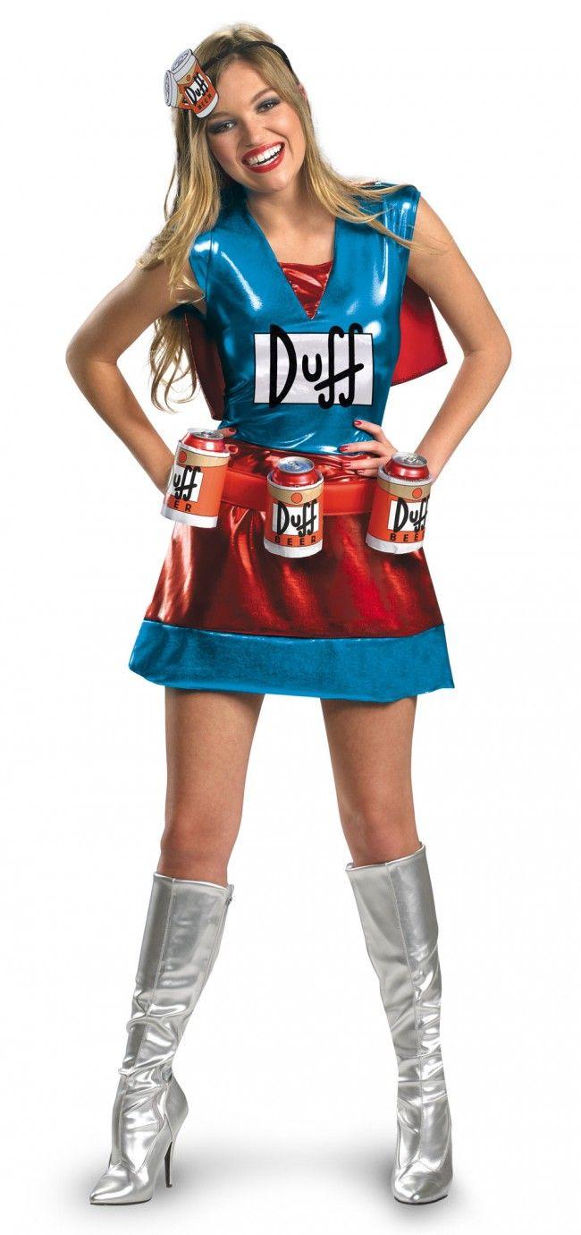 Duff Women's Duffman Beer Costume Dress