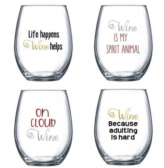 Ulinewinefridge Wineonline Wine Glass Sayings Cricut Wine Glasses