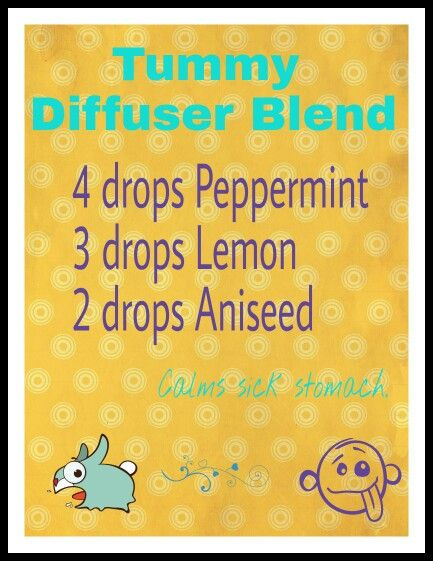 Sick stomach nausea diffuser blend. Peppermint, lemon, anise seed