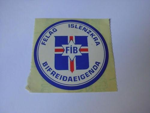 THE AUTOMOBILE ASSOCIATION OF ICELAND (FIB) FELAG ISLENZKRA BIFREIDAEIGENDA