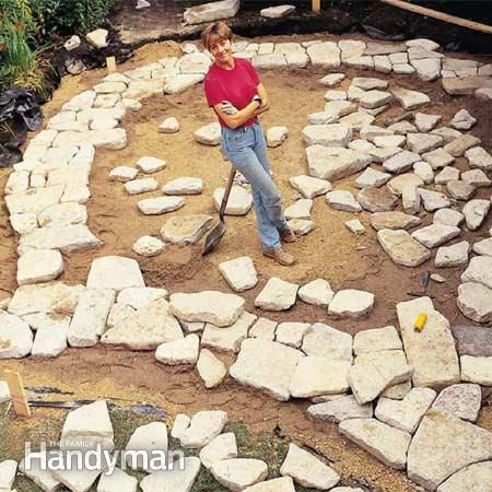 Build A Stone Patio Or Brick Patio