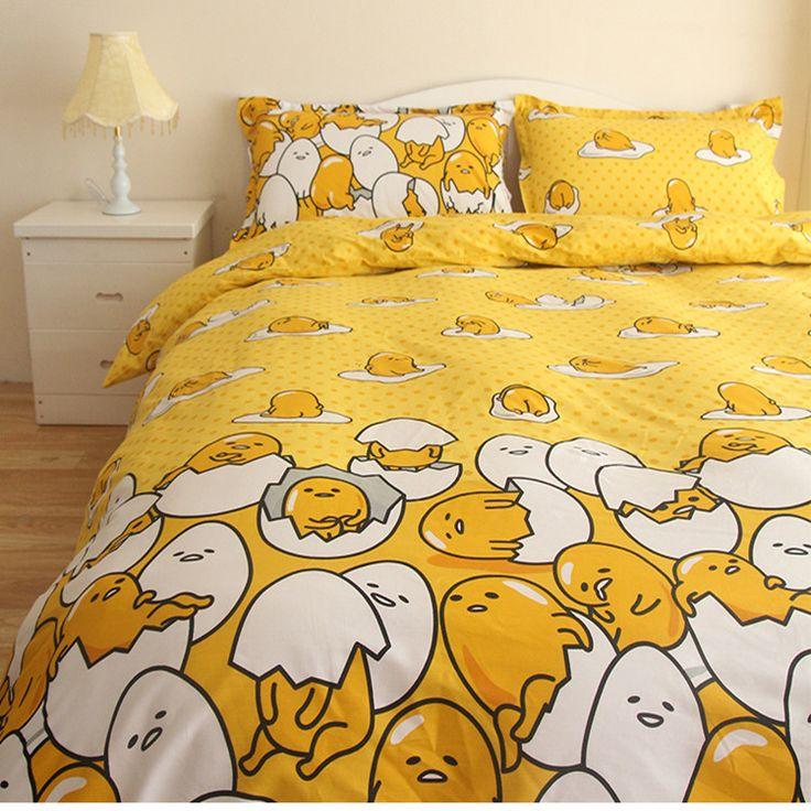 Best New Design Children Cartoon Gudetama Bedding Set Twin Full 640 x 480