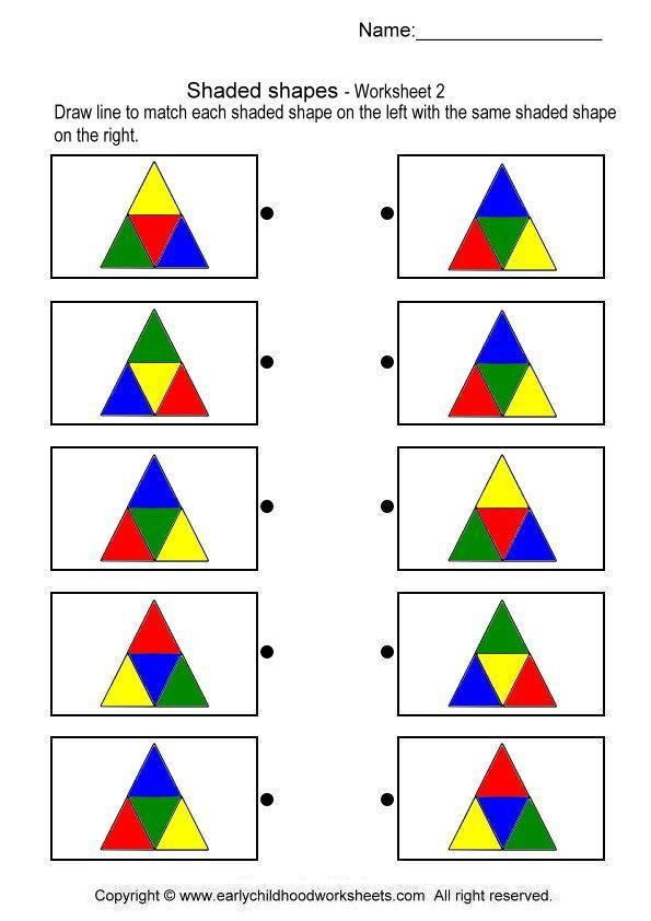 shapes worksheets for kindergarten - Google Search