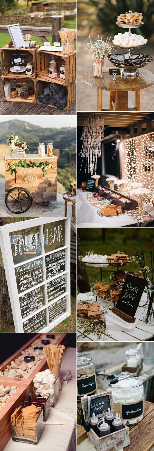 trending S'mores Bar wedding food ideas for 2018  #wedding #weddingfood #weddingideas