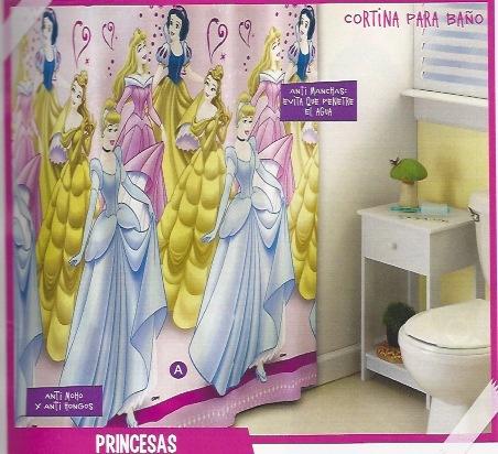 Cortina de baño princesas JI