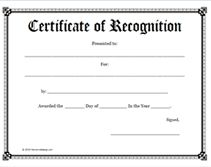 free school certificate of recognition