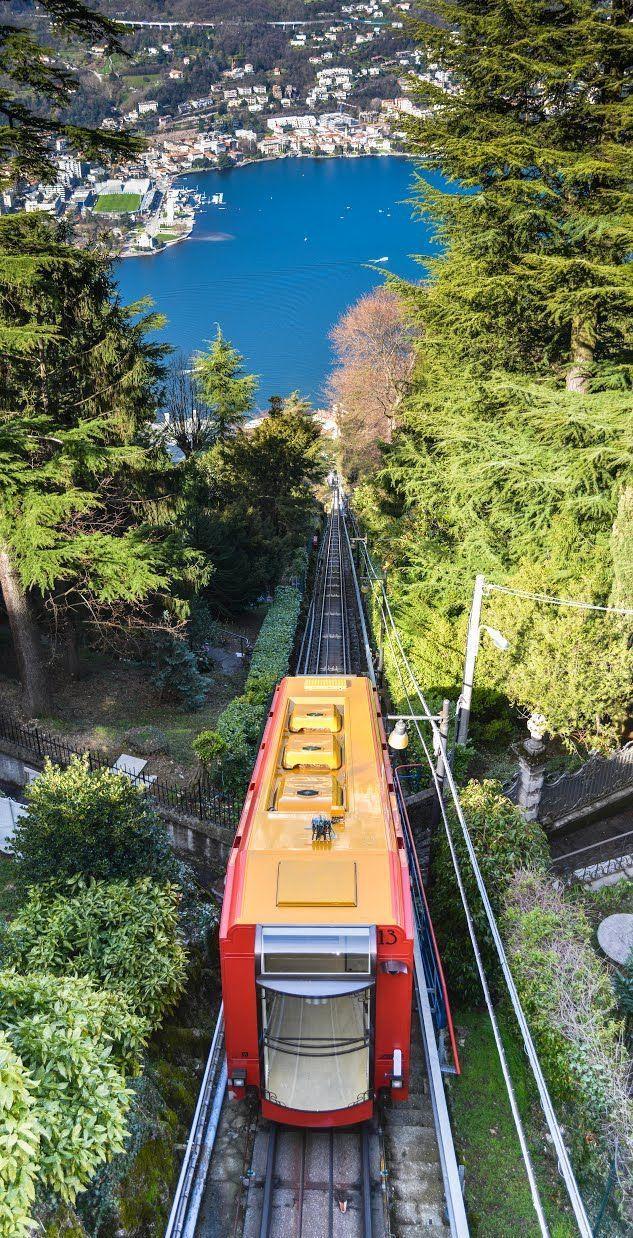 Brunate Tram in Lake Como - Lombardy, Italy