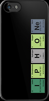 """""""iPhone & iPad - periodic elements scramble!"""" iPhone & iPod Cases by dennis william gaylor"""
