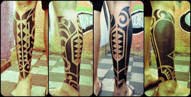 Maori Tattoo Cover Up: Cover Up Maori Feito Por Coringa Tattoo Até Os Ossos