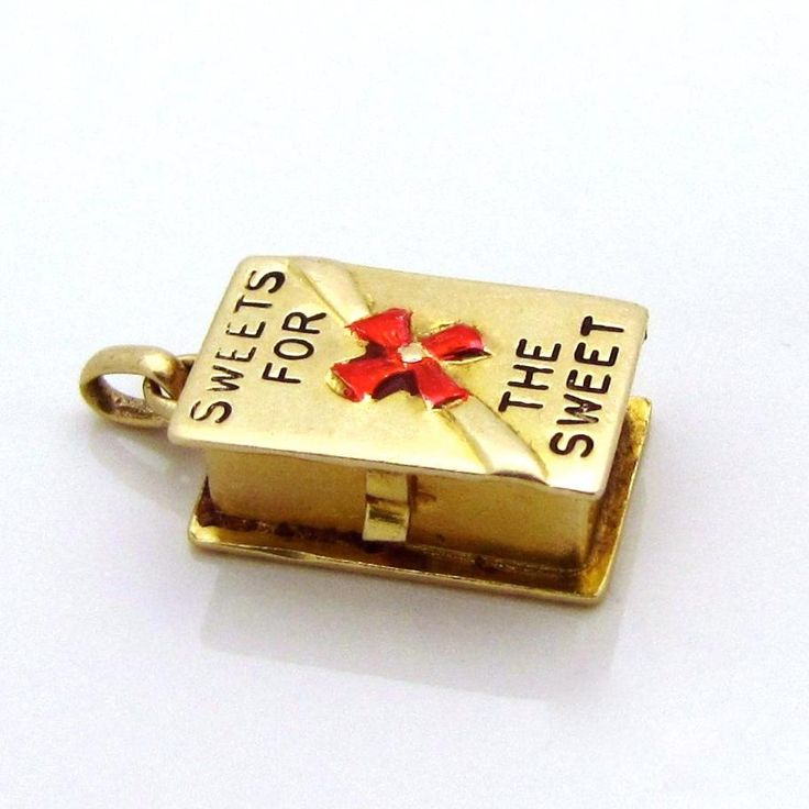Vintage 14K Gold 3D Sweets for the Sweet *Box of Candy Chocolates* from charmalier on Ruby Lane