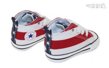 Photo Converse First Star - chaussons pour bébé - Drapeau americain #cadeaux #bébé #mode #chambre #enfant #myminimi #converse
