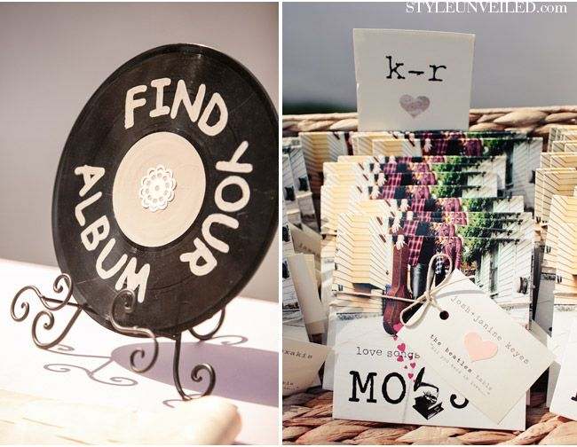 Los Angeles Wedding with a Music Theme. very cool idea for party favors