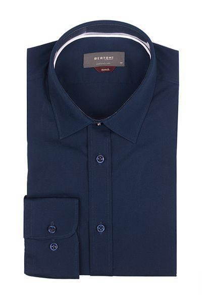 Classic dark blue shirt