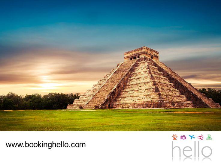 VIAJES PARA JUBILADOS. Chichen-Itzá es una ciudad que guarda cierto misticismo sobre la cultura maya. Se dice que en el cenote Ik-Kil, yacen restos de bellas doncellas y que en la cima de la pirámide de Kukulkán se escucha el eco del ave de Quetzal. En Booking Hello te invitamos a adquirir alguno de nuestros packs a Cancún y aproveches para hacer un poco de turismo en sus alrededores. #BeHello