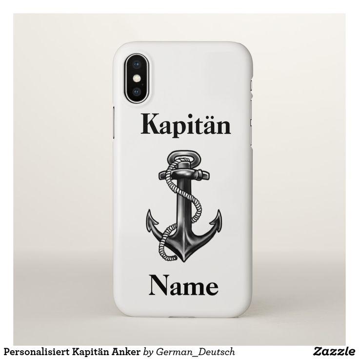 Personalisiert Kapitän Anker
