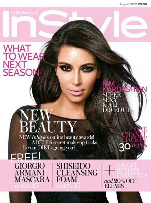 kim kardashian instyle uk august 2012