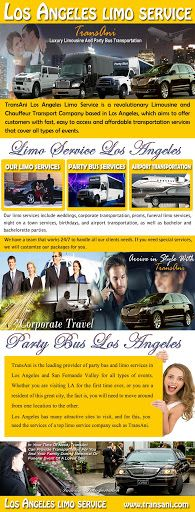 Limo service Los Angeles is basically car rental services that offer people an excellent service of car renting. Try this site http://www.transani.com/ for more information on Limo service Los Angeles. Limo services are not only available for going on a party or a ball, but they can also be hired for the wedding purposes or for high level meetings as well. Follow us http://losangeleslimo-service.tumblr.com
