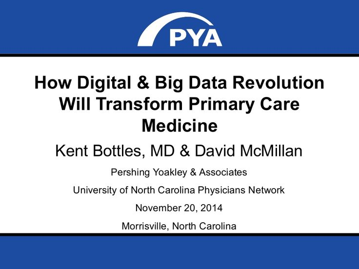 How Digital & Big Data Revolution Will Transform Primary Care Medicine by PYA via slideshare