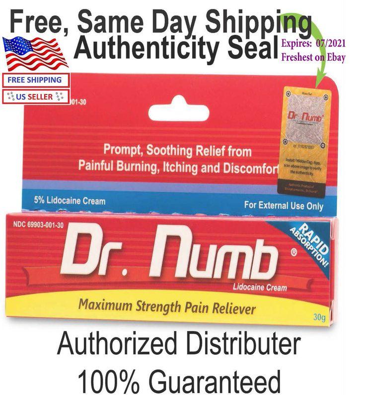 Dr numb 5 lidocaine cream 30g skin numbing tattoo waxing