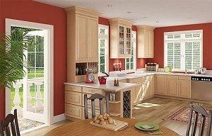 pintar una cocina rojo