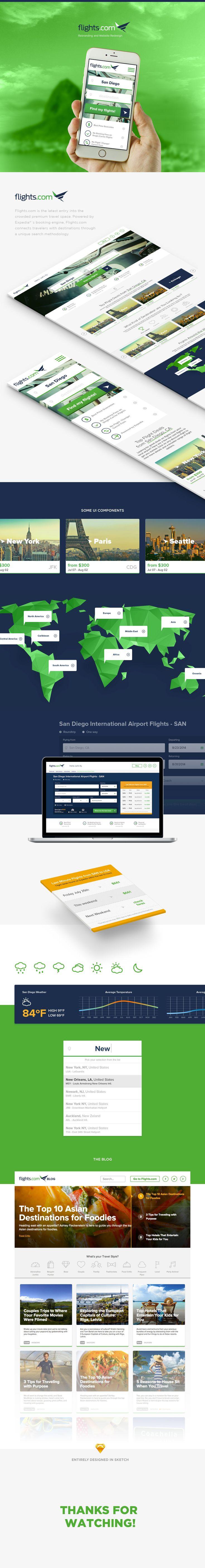 Flights.com on Behance