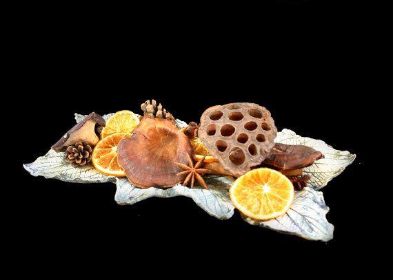 Dogwood leaf bowl by LitSmithCeramics, £67.00